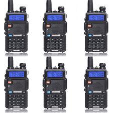 6 Pack Baofeng UV-5R Dual Band Two Way Radio Walkie Talkie with Flashlight