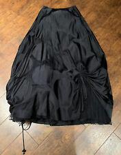 Carol Peretz Black Large Dot Print 100% Silk +I Tulle Long Skirt-Size-6