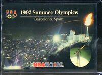 1992 Skybox NBA Hoops 1992 Summer Olympics USA Team Barcelona Spain Plastic Card