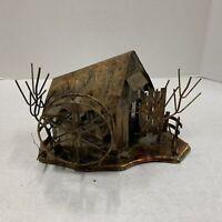 Vintage Copper Brass Tin Music Box Great Look Condition Cabin Farm Decor