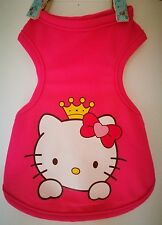 Hello Kitty Pet Puppy Dog Cat Vest Sweater  Easter Spring Summer Costume S