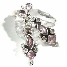 Amethyst Ohrhänger 7 Earrings 925 Silber UNIKAT Gothic EDEL