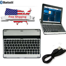 Super Thin Aluminum Wireless Bluetooth Keyboard-Dock With Cover For IPad 2 3 4