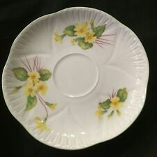 SHELLEY DAINTY SHAPE  SAUCER ENGLISH BONE CHINA PRIMROSE IN AS NEW EX. COND