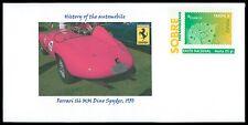 SPAIN PRIVAT-GA GANZSACHE AUTO CAR FERRARI DINO SPYDER 1950 RARE!! cd27