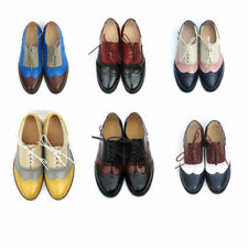 Leather Lace Up Formal Flats for Women