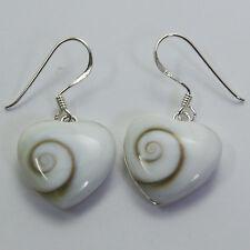 Earrings Lovely Heart Shiva Eye Sterling silver