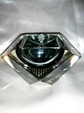 PORTACENERE VINTAGE VETRO GRIGIO TRIDIMENSIONALE DESIGN SPACE UFO DISCO VOLANTE