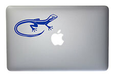 Wild Gecko Lizard - 5 Inch Traffic Blue Vinyl Decal for Macbook, Laptop
