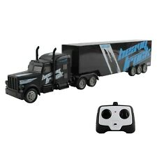 "RC Toy Semi Truck Trailer 18"" Remote Control Rechargeable Battery Included TM-53"