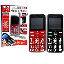 Life Line Big Digit Mobile Phone With SOS Button Elderly Senior Unlocked New