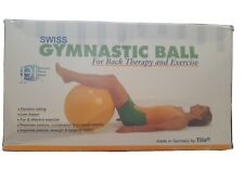Swiss Exercise Ball for Back Therapy & Exercise made in Germany by Tilia 25.5""