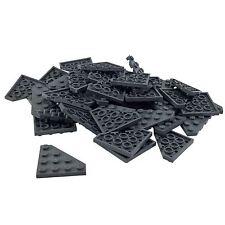 35 New Lego Wedge, Plate 4 x 4 Cut CornerDark Bluish Gray