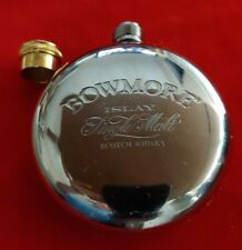 VINTAGE BOWMORE ISLAY SINGLE MALT SCOTCH WHISKY HIP FLASK