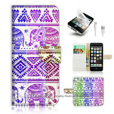 ( For iPhone 5 / 5S / SE ) Wallet Case Cover! Aztec Elephant P0432