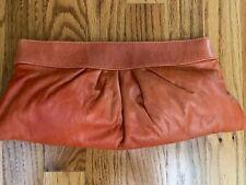"""Lauren Merkin Clutch Bag (Orange, 6""""x13"""")"""