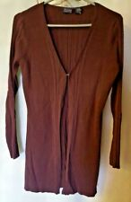HILARY & HANSON Maroon Ribbed Cardigan Sweater~Size M~Career-Casual GLOBAL SHIP