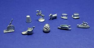 MONOPOLY Deluxe Edition Board Game replacement Silver Tokens Set 10 Hasbro 1999