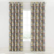 "Eyelet Lined Curtains Helena Springfield London Mali Safari 66"" x 90"" (1140)"
