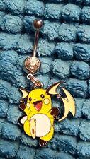 Raichu Pokemon  Belly Ring Navel Ring 14G Surgical Steel Dangle