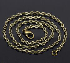 12 Chaîne maille forçat Bijoux DIY Fermoir mousqueton Bronze 51cm
