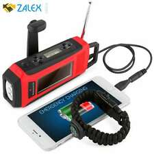 Emergency Solar Hand Crank NOAA Weather Radio Led Flashlight Charger Powered Mob