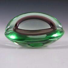 Murano/Venetian Green & Purple Sommerso Glass Bowl