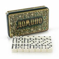 "Brettspiel Domino ""Hochloma"" MetalGeschenkBox Домино ""Хохлома"" в металлической"