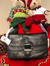 NWT COACH MADISON BLACK PEBBLED LEATHER FLAP SHOULDER BAG HANDBAG 23425 $498 HOT