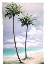 Margo Goodwill Beach Palms II Poster Kunstdruck Bild 84x58cm - Portofrei