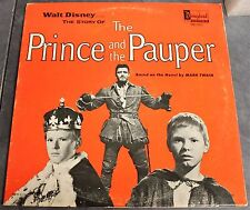Walt Disney's The Prince and the Pauper Record LP DQ-1311 1963 Disneyland Album