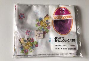NOS New Riegel Babycare Baby Pillowcase Cat Kitten Cotton