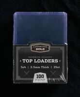 125 Ultra CBG Pro 100pt THICK Top Loaders - 5 packs of 25 each!!! NEW IN PACKAGE