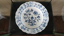 Large Antique Meissen Porcelain Manufactory 'Blue Onion' Porcelain Serving Bowl