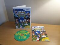 NINTENDO WII: SEGA SUPERSTARS TENNIS- COMPLETE WITH MANUAL - FREE P&P