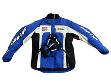 New ListingBrp Ski-doo Snow Mobile Jacket Mens Blue And Gloves (L)