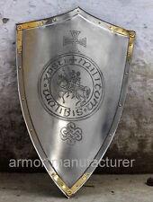Templar Knight Cross/Seal Shield by Marto of Toledo Spain Replica