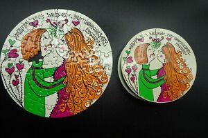 "Vtg 1968 Springbok Mini Holiday Thingies Mistletoe Puzzle Sandy Miller 7"""