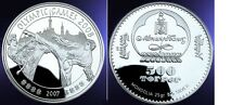 2007 Mongolia Large Silver Proof 500 T Olympic Tae Kwon Do-Bejing