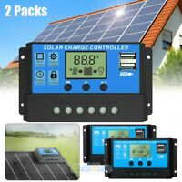 2X 60A MPPT Solar Panel Regulator Charge Controller 12V/24V Auto Focus Tracking