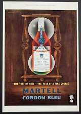 MARTELL CORDON BLEU COGNAC - Vintage Colour Magazine Advert - 1960 *