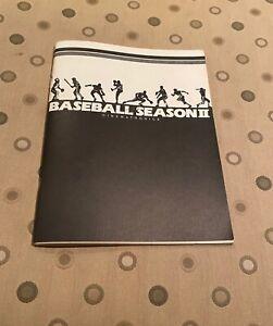Baseball Season II Video Arcade Game Service Manual, Cinematronics 1987