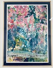 """Abstract Framed Colored Mono Print Painting 13.5""""x11.5""""x1"""" By Renee Morgenstein"""