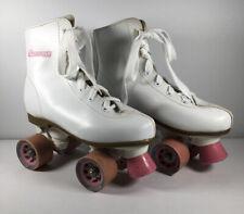 Chicago Girls' Classic Quad Roller Skates White/Pink Children Rink Skates Size 4