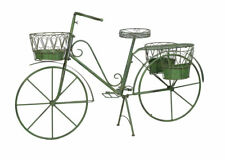Decor Bicycle garden decoration Metal Wheel For Plant 4 Baskets Pflanzrad Flower