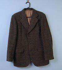 Vintage Harris Tweed Chaqueta en verde con cuadros en Dunn & Co pesado de lana 40R