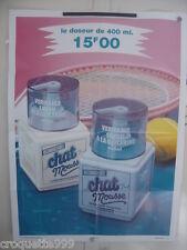 1987 Affiche SAVON LIQUIDE CHAT MOUSSE 56 X 75 cm