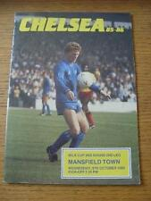09/10/1985 Chelsea v Mansfield Town [Football League Cup] (Slight Crease). No ob