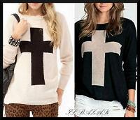 """maglioncino """"cross"""" in misto lana 2 colori taglia unica"""