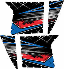 Pro Armor Door Graphics Kit Polaris RZR S XP 900 Voodoo Blue Red Without Cutouts